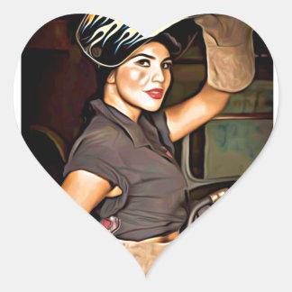 Rosa-the-welder Heart Sticker