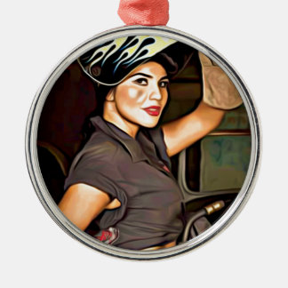 Rosa-the-welder Metal Ornament