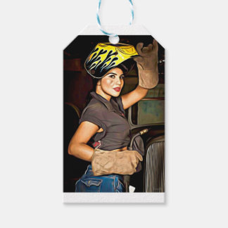 Rosa-the-welder Pack Of Gift Tags