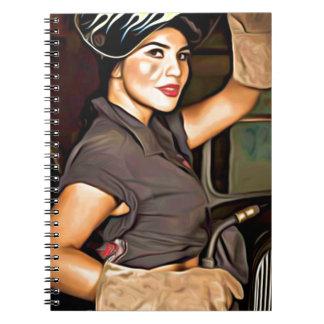 Rosa-the-welder Spiral Notebook