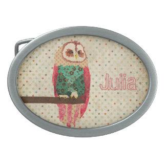 Rosa Vintage Owl  Belt Buckle