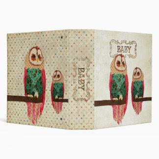 Rosa Vintage  Owls Baby Book Binder