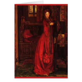 """Rosamond"" Woman in Red, Card"