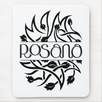 Rosana black deco Mousepad