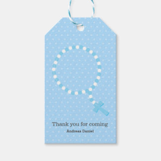 Rosary beads * choose background color pack of gift tags