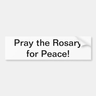 Rosary Bumper Sticker