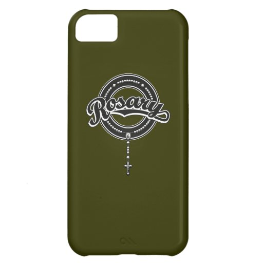 Rosary Circle Script Logo Black Case For iPhone 5C