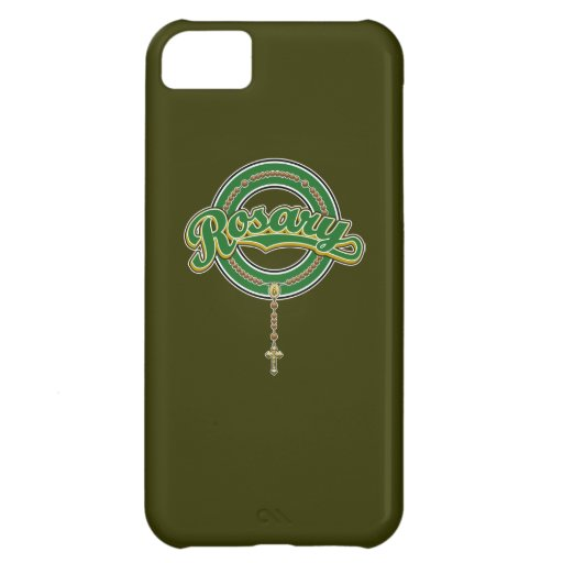 Rosary Circle Script Logo Green on Green iPhone 5C Covers