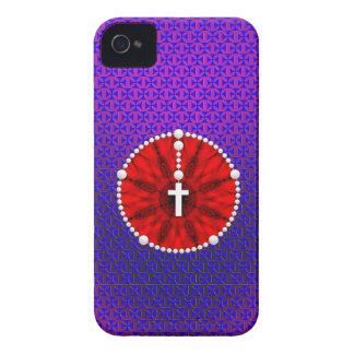 Rosary Dream Catcher Red iPhone 4 Case-Mate Cases