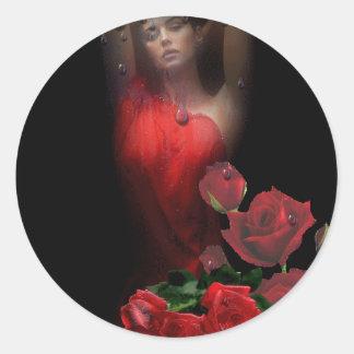 rosas round sticker