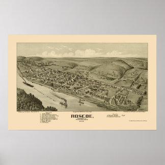 Roscoe, PA Panoramic Map - 1902 Poster