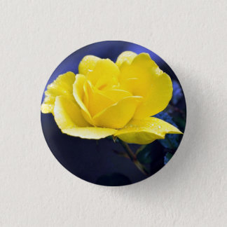 Rose 1 Inch Round Button