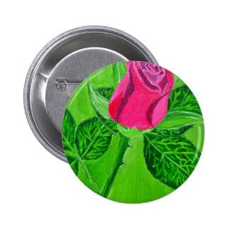 Rose 1a 2 inch round button