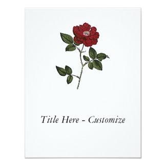 "Rose 4.25"" X 5.5"" Invitation Card"