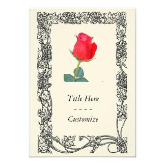 "Rose 5"" X 7"" Invitation Card"