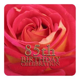 Rose 85th Birthday Celebration Custom Invitation