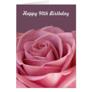 Rose 90th Birthday Card