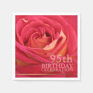 Rose 95th Birthday Celebration Paper Napkin 1