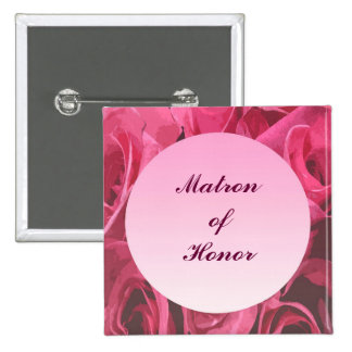 Rose Abstract Matron of Honor Pin