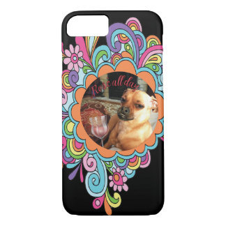 """Rose all day"" and Mitsy the dog phone case"