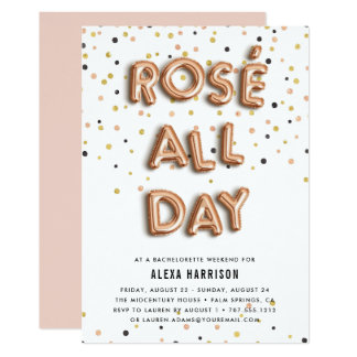 Rosé All Day Bachelorette Weekend Invitation