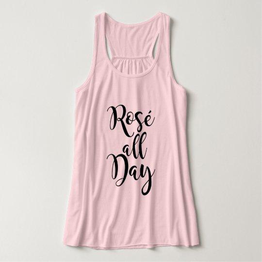 Rosé All Day | Black Script Tank Top