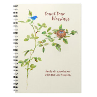 Rose and Bunting Gratitude Spiral Notebooks