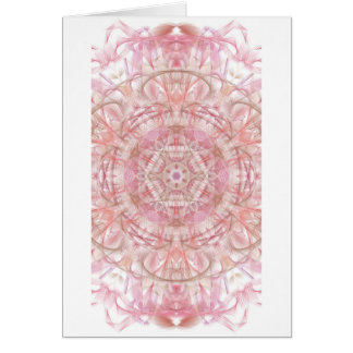 Rose and coral pink mandala card