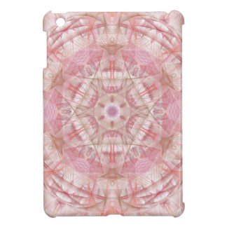 Rose and coral pink mandala case for the iPad mini