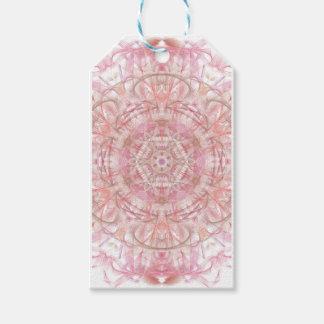 Rose and coral pink mandala gift tags