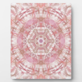 Rose and coral pink mandala plaque