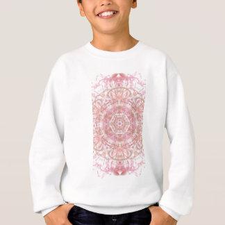 Rose and coral pink mandala sweatshirt