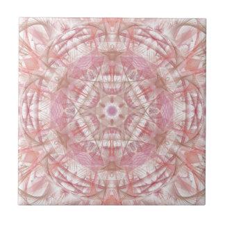 Rose and coral pink mandala tile