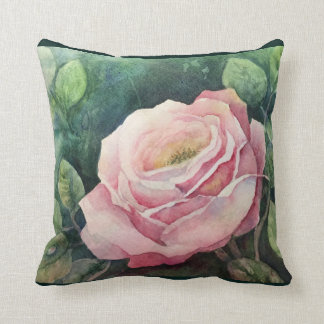 Rose and Dewdrop throw pillow