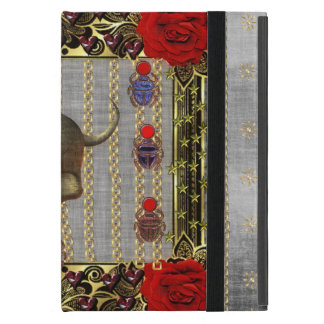 Rose and Golden Skull Cover For iPad Mini