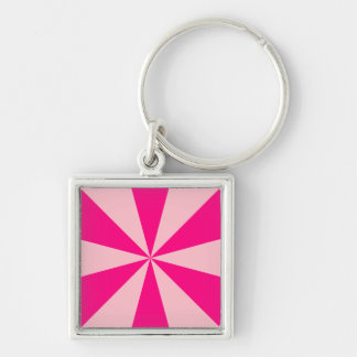 Rose and pink triangles keychain