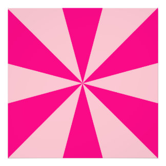 Rose and pink triangles photo print