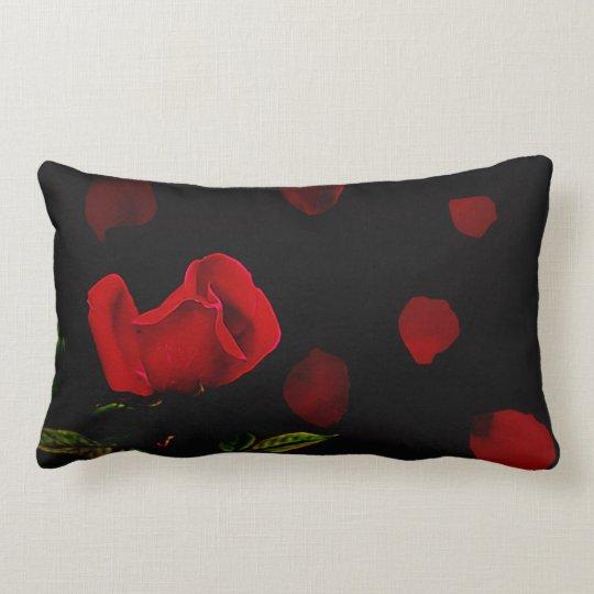 Rose and rose petal, throw pillow