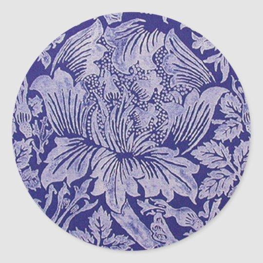 Rose and Thistle by William Morris Sticker