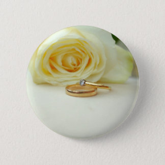 Rose and Wedding Ring 2 Inch Round Button