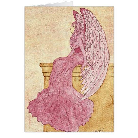 Rose Angel Notecard