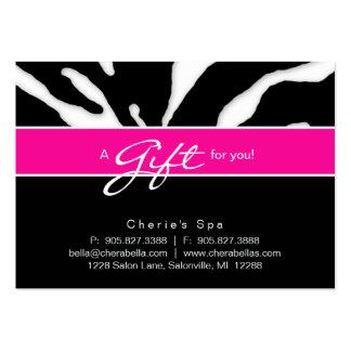 Rose animal de lèvres de zèbre de chèque-cadeau de cartes de visite personnelles