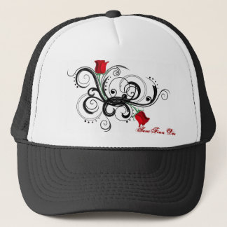 Rose Arms Trucker Hat - Black