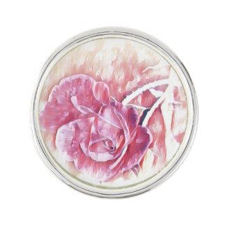 Rose Art Lapel Pin
