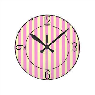 Rose Avenue Round Clock