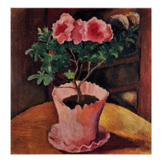 Rose Azaleas by August Macke Poster