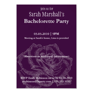 Rose Bachelorette Party Invitations