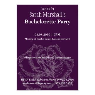 Rose Bachelorette Party Invitations