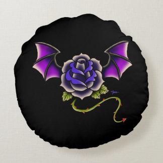 Rose Bat Round Pillow
