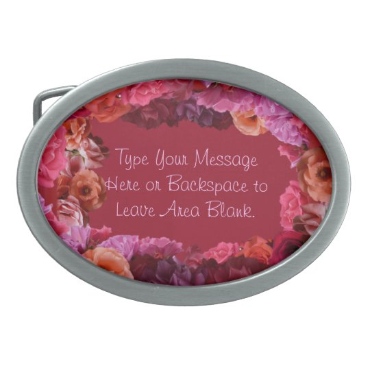 Rose Belt Buckle Personalized Roses Buckle & Gifts